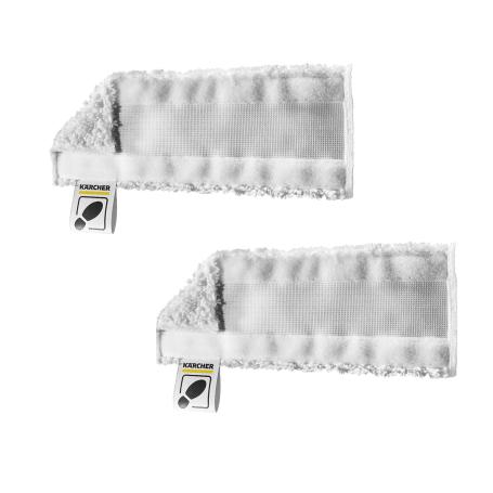 Set 2 panni in microfibra per bocchetta pavimenti EasyFix KARCHER 2.863-259.0 per modelli SC1 SC2 SC3 SC4 SC5 SI4 SC3 Upright