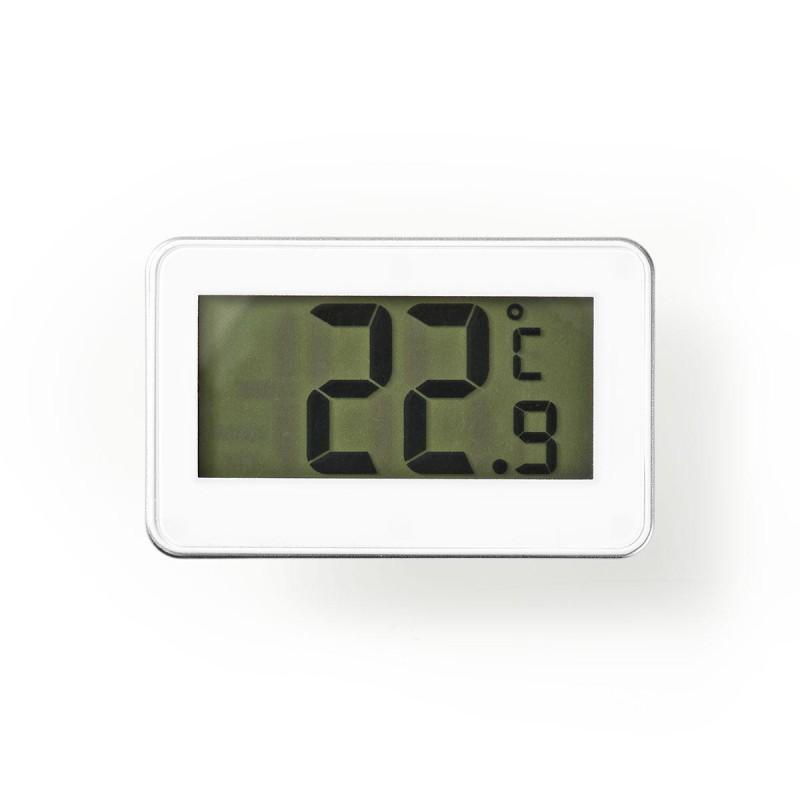 Termometro digitale per frigorifero o ambiente con numei grandi NEDIS KATH101WT