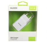 CARICATORE USB 2.1 SWEEX BIANCO