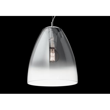 Sospensione campana trasparente con sfumatura cromata AUDI20SP1 IDEALLUX FUME