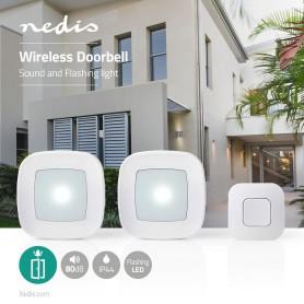 campanello senza fili doppio 220v con lampeggiante Nedis