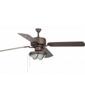 Ventilatore soffitto FARO HIERRO marrone   con luce 4 pale