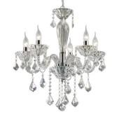 IDEAL LUX lampadario sospensione in vetro soffiato con gocce in cristallo 5 luci TIEPOLO